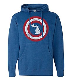 Tee See Tee Men's Captain Michigan Hoodie