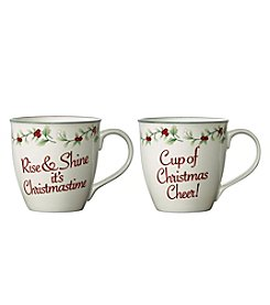 Pfaltzgraff Set of 2 Christmas Cheer Mug