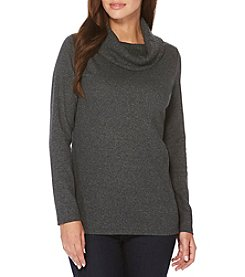 Rafaella Ribbed Cowl Neck Sweater