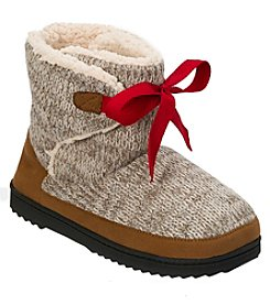 Dearfoams Memory Foam Cable Knit Boots