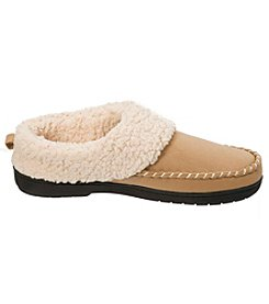 Dearfoams Microsuede Whipstitch Clog Slippers