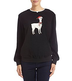 Alfred Dunner Llama Holiday Detail Sweater