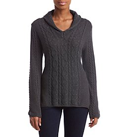 Jeanne Pierre Shawl Collar Sweater