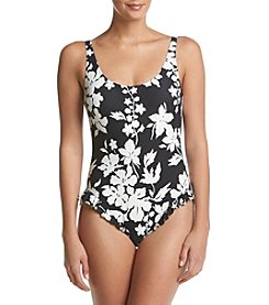MICHAEL Michael Kors Deep Back Floral Ruffle One Piece