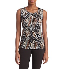 Kasper Abstract Pattern Cami Top