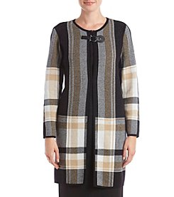 Kasper Drop Shoulder Plaid Jacket