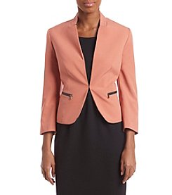 Nine West Exposed Zip Pocket Blazer