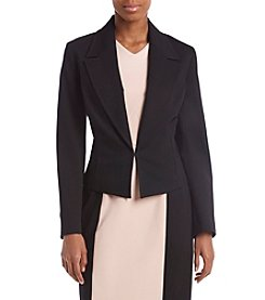 Nine West Black Open Front Ponte Jacket
