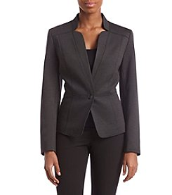 Nine West Front Button Seamed Detail Blazer