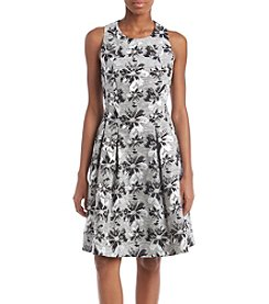 Nine West Fit and Flare Printed Dress