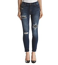 Hippie Laundry Destructed Jewel Jeans W/Fray Hem