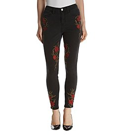 Hippie Laundry Embroidered Rose Jeans