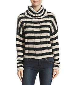 Hippie Laundry Striped Cowl Neck Sweater