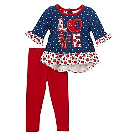 Nannette Baby Girls' 12M-24M Knit Shirt And Pants Set