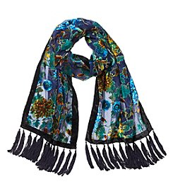 Collection 18 Nouveau Floral Velvet Burst Scarf
