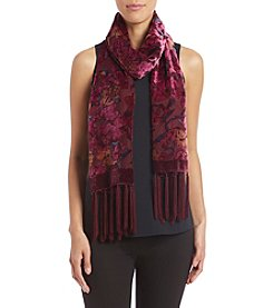 Collection 18 Floral Velvet Wrap Scarf