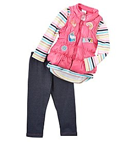 Nannette Baby Girls' 12M-24M 3 Piece Vest Set