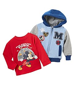Nannette Baby Boys' 12M-24M Mickey Sweatshirt Set
