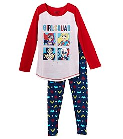 Komar Kids Girls' 6-12 2 Piece Super Hero Girl Squad Pajama Set