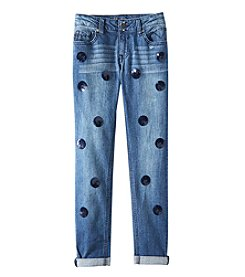 Vigoss Girls' 7-16 Disco Ball Jeans