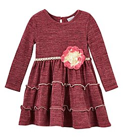 Sweet Heart Rose Baby Girls' 12M-24M Long Sleeve Space Dress