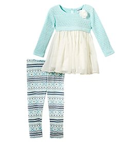 Sweet Heart Rose Baby Girls' 12M-24M 2 Piece Sweater And Leggings