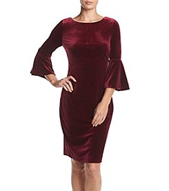 Calvin Klein Velvet Bell Sleeve Dress