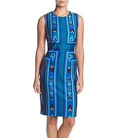 Calvin Klein Print Scuba Dress