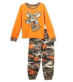 Komar Kids Boys' 2T-4T Camo Deer Pajamas