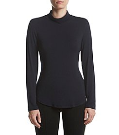 Calvin Klein Turtleneck Curved Hem Top