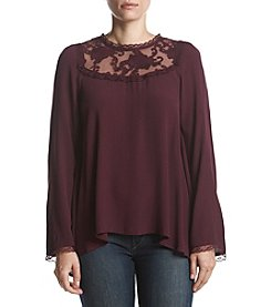 Philosophy by Republic Clothing Lace Yoke Blouse