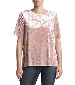 Penelope Rose Crushed Velvet Tee