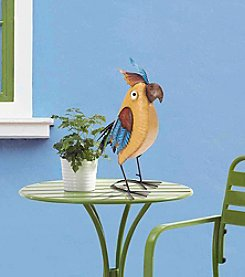 Sunjoy Whimsical Handpainted Metal Bird