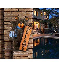 Sunjoy Welcome Bear Statue with Solar LED