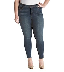 Bandolino Plus Size Medium Wash Skinny Jeans