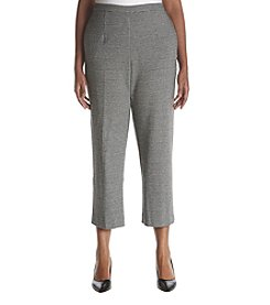 Alfred Dunner Plus Size Houndstooth Pants