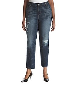 Gloria Vanderbilt Plus Size Distressed Denim Jeans