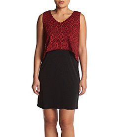 Studio Works Petites' Lace Popover Top Dress