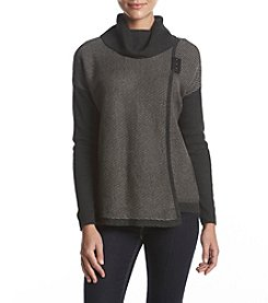 Ivanka Trump Textured Button Accent Sweater