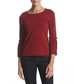Ivanka Trump Accordion Cuff Sweater