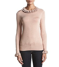 Ivanka Trump Ruffle Collar Sweater