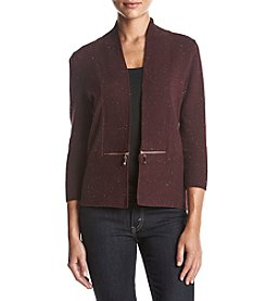 Ivanka Trump Zip Pocket Shrug Sweater