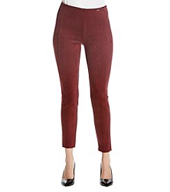 Ivanka Trump Faux Suede Compression Pants