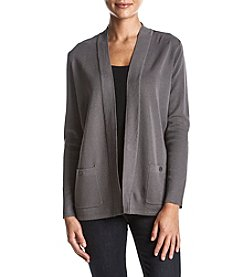 Anne Klein Ribbed OPen Front Cardigan Sweater