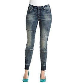 Miracle Jean Patchwork Skinny Jeans