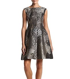 Anne Klein Abstract Print Pleated Dress