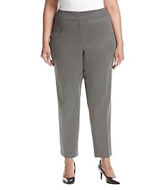 Kasper Plus Size Jacquard Slim Pants