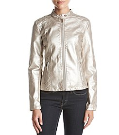 Warrior by Danica Patrick Metallic Faux Leather Jacket