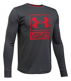 Under Armour Boys' 8-20 Long Sleeve Textured Tech Crew