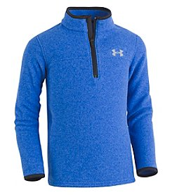 Under Armour Boys' 4-7 Heathered Logo Quarter Zip Top